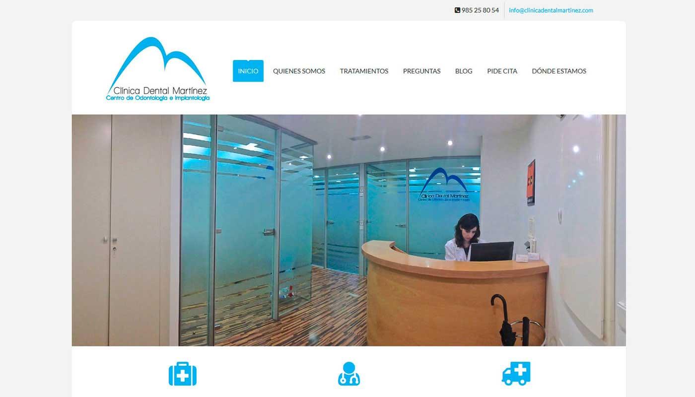 Diseño web Clínica Dental Martinez