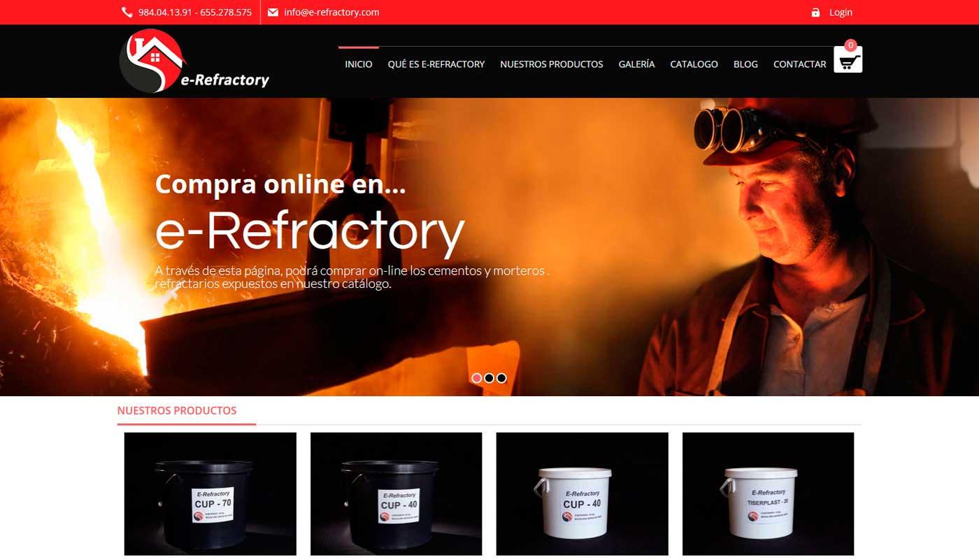 Tienda Wordpress E-Refractory